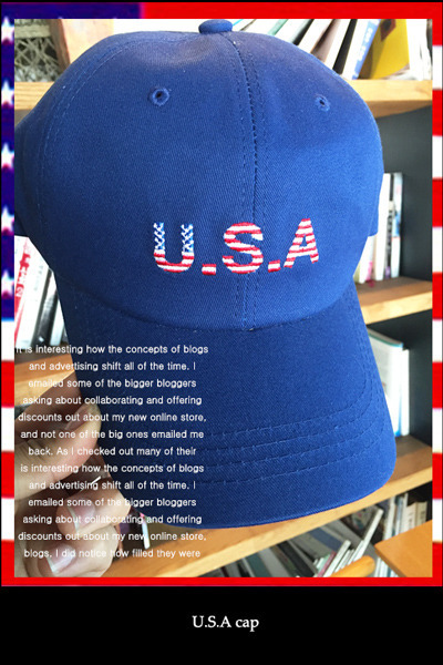 acc460. U.S.A cap [3color]