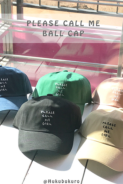 acc1165. please call me ball cap [6color]