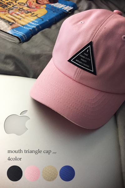 acc392. mounth triangle cap [4color]